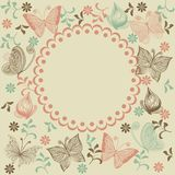 Floral background with butterflies Royalty Free Stock Photo