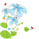 Floral background with butterflies Royalty Free Stock Photos