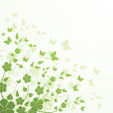 Floral background with butterflies. Green spring floral background with butterflies Vector Illustration