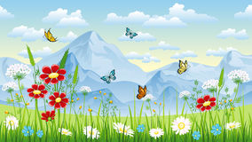 Floral background with butterflies Stock Images