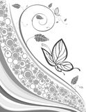 Floral background with butterfly Royalty Free Stock Photo
