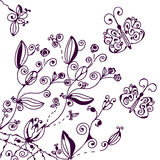 Floral background with butterfly Stock Photos