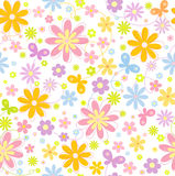 Floral  background with  butterfly. Seamless floral  background with  butterfly Royalty Free Stock Photography