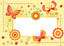 Floral background  with butterfly. Stock Photo