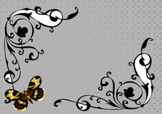 Floral background with butterfly Royalty Free Stock Image