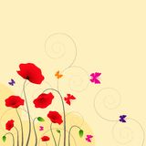 Floral Background with butterfly Stock Images
