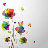 Floral Background with butterfly Royalty Free Stock Photos