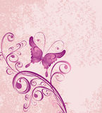 Floral background with butterfly. Vector Royalty Free Stock Photos