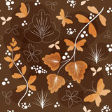 Floral background with butterfly. Royalty Free Stock Image
