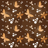 Floral background with butterfly. Royalty Free Stock Photo