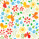 Floral background with butterflys Stock Images