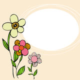 Floral background card Stock Images