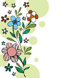 Floral background card Stock Photo