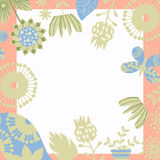 Floral background  card design. Cute image, vector Royalty Free Stock Photos