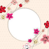 Floral background card with frame Stock Images