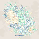 Floral background with chamomile vector illustration