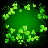Floral background with clover leaves Royalty Free Stock Images
