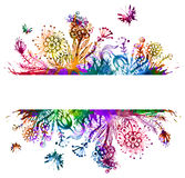 Floral  background. Colorful flower card. Eps10. Stock Photo
