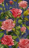 Floral Background, Colorful Rose and Flowers Royalty Free Stock Image