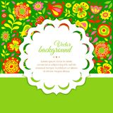 Floral background for congratulations Stock Photography