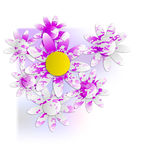 Floral background into corner Royalty Free Stock Images