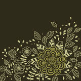 Floral background in dark colours. With  place for  text Royalty Free Stock Image