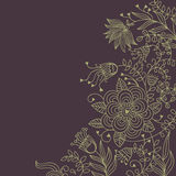 Floral background in dark colours. With place for text vector illustration