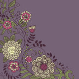 Floral background in dark colours. With place for text royalty free illustration