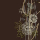 Floral background in dark colours. With place for text stock illustration