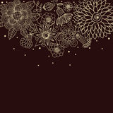 Floral background in dark colours. With place for text Royalty Free Stock Photos