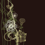 Floral background in dark colours Stock Photos