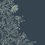 Floral background in dark colours Stock Photo