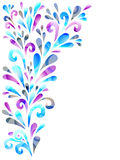 Floral background. Background with floral decoration in cold colors vector illustration