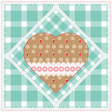 Floral background, decorative patchwork hearts. Easter vector pattern for cushion, pillow, bandanna, silk kerchief or shawl fabric Stock Photo