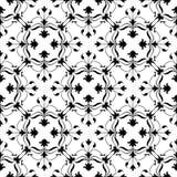 Floral background. Decorative Vector illustration. Monochrome pattern. Elegant element for design template. Lace decor for birthda Stock Photo