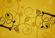 Floral background/design. Floral grungy background....summer cllection Stock Photo