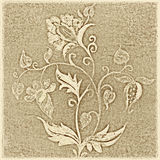 Floral background and design element. Lovely floral background and design element with earthy texture stock photos
