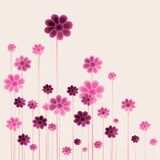 Floral background design elements Royalty Free Stock Photography