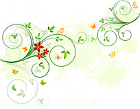 Floral background design Stock Images