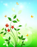 Floral background design Royalty Free Stock Photo