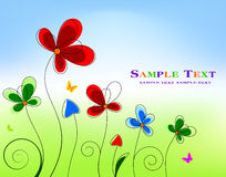 Floral background design Royalty Free Stock Photography