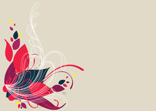Floral background design in vibrant shades Royalty Free Stock Photo