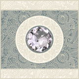 Floral background with diamond jewel Royalty Free Stock Image