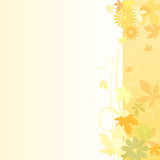 Floral  background in early autumn. Vector illustration of a floral  background in early autumn Royalty Free Stock Images