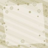 Floral background earthtone. Illustration in earthtones, diagonal stripes with a floral border Royalty Free Stock Image