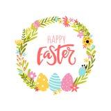 Floral background for easter congratulation vector illustration