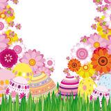 Floral background with Easter eggs royalty free stock photo