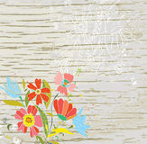 Floral background for the eco card Stock Images