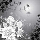Floral background, elements for design, vector stock illustration