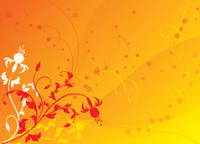 Floral background, elements for design, vector Stock Photo